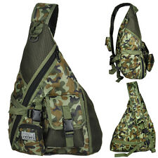 New Single strap Fabric Camo Sling Backpack Hiking & Camping Camouflage Day Pack
