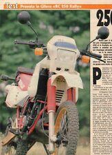 SP55 Clipping-Ritaglio 1987 Gilera RC 250 Rally 250 ma ne dimostra di più