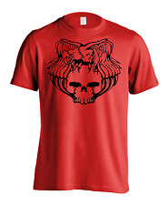 New Men's American Eagle Skull Gym T-Shirt Patriotic USA Athletic Sports Tee
