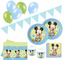 74 Teile Disney Baby Micky Party Deko Set für 16 Personen Babyshower