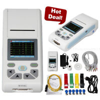 ECG90A ECG Machine Touch Electrocardiograph 1 Channel  CD Software 12 Leads USB