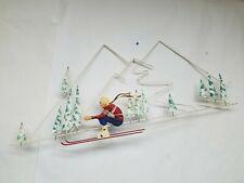 C. Curtis Jere 1988 Skier Modern Pop Art Wall Sculpture Metal Free S&H