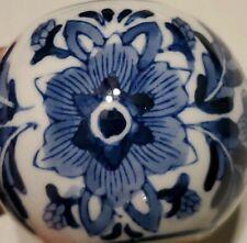 VTG Delft Hand Painted Flower Art Pottery Tea Light Candle Holder Holland