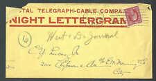 1910 Chicago Il Postal Telegram Night Letter Telegram Rare Opened See Info