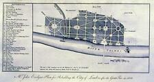 Antique map, Mr. John Evelyn's plan for rebuilding the City of London