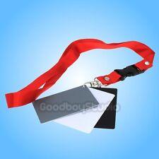 3 in 1 Pocket-Size Digital White Black Grey Balance Cards 18% Gray Card