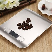 5Kg x 1g Slim Digital Kitchen Scale Stainless Steel 11lb x 0.05 oz Food / Postal
