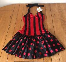 Leg Avenue Sexy Ladybird Polka Dot Fancy Dress Costume Burlesque Womens Size S/M