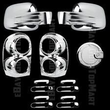 For Jeep LIBERTY 2002-2007 Chrome Covers Set Mirrors+4 Doors w/o+Gas+Tail Lights