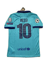 Leo Messi Soccer Jersey Barcelona Away Third Large