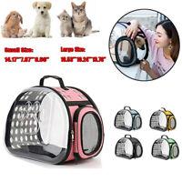 Portabl Pet Puppy Bag Travel Carrier Backpack Cat Dog Foldable Kennel Breathable