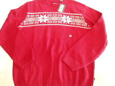 Mens Chaps XXL Red Winter Sweater NEW Cotton Blends