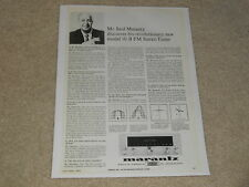Rare Marantz 10-B Tube Tuner Ad, Saul Q & A, 1964, Beautiful, Frame it!