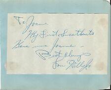 Lou Wills Jr Signed Vintage Album Page