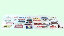 NASCAR Decal set Set of 33 full size Sponsor sticker race car tool box