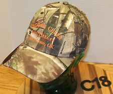 CROTON CREEK OUTFITTERS CHEYENNE OKLAHOMA CAMO HAT ADJUSTABLE VERY GOOD COND C18