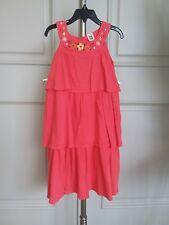 Carter's  raffled sleeveless coral dress sz 6x