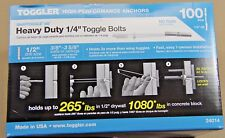 "Toggler  SnapToggle BB  100  1/4""  H/D Toggle Bolts  WITH PAN HEAD SCREWS 24014"
