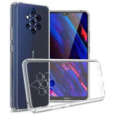 Crystal Clear Hard Slim Fit Back Cover Phone Case for Nokia 9 PureView