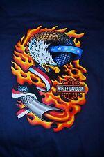 HARLEY DAVIDSON Eagle Fire Tailpipe T-shirt ~ Barnett ~ El Paso, Texas ~ NWT