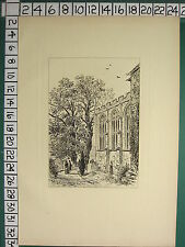 1885 PRINT STRATFORD-ON-AVON ~ THE CHANCEL OF STRATFORD CHURCH ~