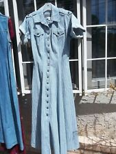 Karen Alexander Denim Striped Full Button Princess Dress S-M