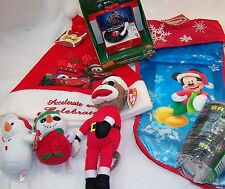 7 Christmas toys:Mickey Mouse Stocking,Alvin Record Player,Cars Santa Cap,Batman
