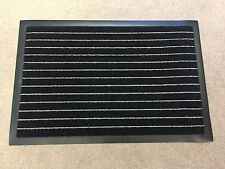 DIRT GRABBER NON SLIP DOORMAT GREY BLACK STRIPE 40 X 60 HEAVY DUTY BARRIER MAT