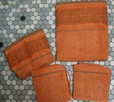 Vintage Mid Century Cotton Bath Towel Set - Callaway by Milliken - Burnt Orange