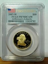 2007-W JEFFERSON Spouse $10. Proof Gold PCGS PR70DCAM FIRST STRIKE