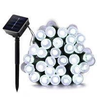 50 LED Solar Garden Fairy Light – Outdoor White String Light Outside Waterproof
