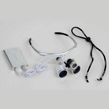 35x420mm Dental Surgical Binocular Loupe Led Portable Head Light White Color