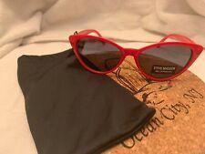 STEVE MADDEN sunglasses, RED cat eye frame, Dark lenses SUNNIES