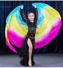 Kids Belly Dance Silk Veils Gradient Color 100% Real Silk Dance Veil on Sale