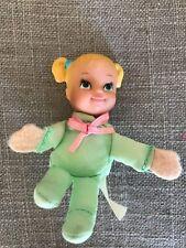 Cute Little Vintage Doll in Green Suit - Soft Body Rubber Head