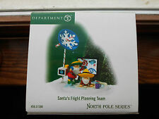 DEPT 56 NORTH POLE Accessory SANTA'S FLIGHT PLANNING TEAM NIB