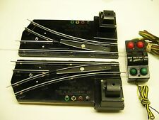 Pair 720A American Flyer Remote Switch Tracks w/ Illuminated Controller*