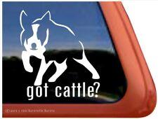 Got Cattle? Charging Australian Cattle Dog Heeler Window Decal Sticker