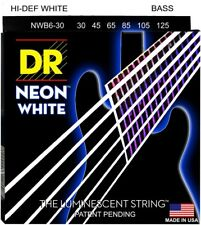 DR NWB6-30 Neon White BASS Guitar String 6-String Set  30-125