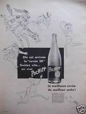 PUBLICITÉ 1958 PSCHITT LA MEILLEURE CUVÉE DU MEILLEUR SODA - ADVERTISING