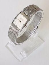 Original Skagen Damen Uhr Slimline silber weiß Edelstahl Steine 380XSSS1