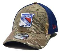 New York Rangers New Era 39THIRTY Realtree NHL Flex Fit Hockey Cap Hat