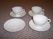 Vintage Wedgwood Wellesley 4 Saucers and 3 Cups, Made in England