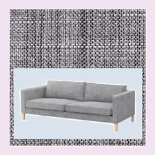 "Ikea Karlstad""3 Seat""Isunda Gray New Salt Pepper Tweed(MatesAvail)Sofa Cover Nip"