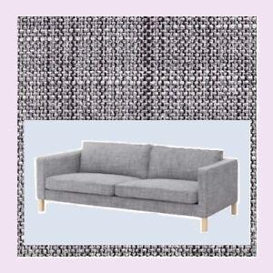 "IKEA Karlstad""3 Seat""Isunda Gray NEW Salt Pepper Tweed(MatesAvail)Sofa COVER NIP"