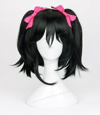 LoveLive! Nico Yazawa Wig Love Live Cosplay Wigs + 2 Bow Hairpins