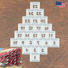 Christmas Tree Advent Calendar Cutting and Embossing Dies