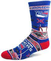 New York Rangers Hockey Ugly Christmas Hockey Crew Sock