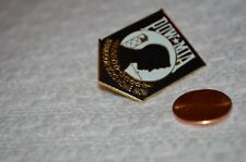 "POW MIA Pin- ""Bring Our Boys Home Now"" Black-White-Gold, Hat,Cap,Lapel Pin, Exc"