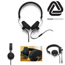 New Coloud No. 8 Black Wired On-Ear Lightweight Headphones With iOS Mic Remote
